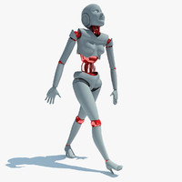 rigged human robot biped max