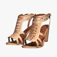 spiga fala sandals 3d max