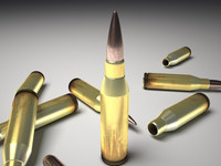 3ds max bullet 50 cal