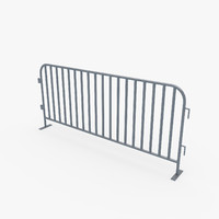 3d model crowd control barrier