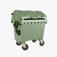 3d dumpster realistic model