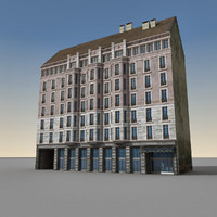 3d model of european building europe