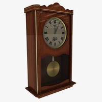 3ds max velis wall clock wood
