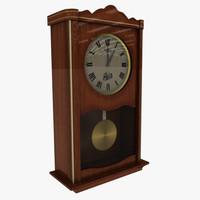3ds max velis wall clock wood