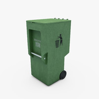 3d trash dumpster model