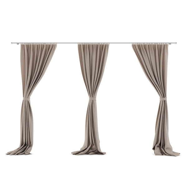 3 moel beige triple curtains