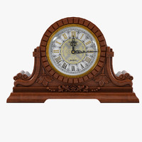 3d model antique clock