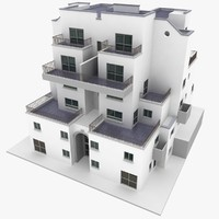 realistic apartment building 3d 3ds