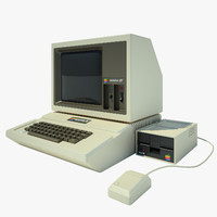 3d model of apple 2 computer