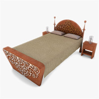 3d model of classic bed