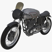 3d motorcycle norton manx rigged model