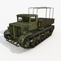 cinema4d tractor ussr voroshilovets