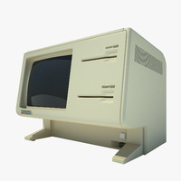 3d apple lisa computer model