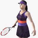 tennis player 3D models