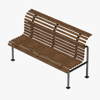 bench 3d 3ds