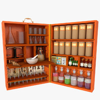 3d model old chemist box