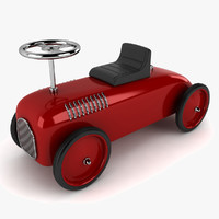 retro toy car 3d model
