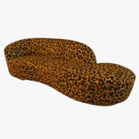 serpentine sofa leopard fur 3d max