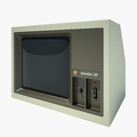 apple 2 computer 3d obj