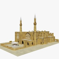selimiye mosque 3d model