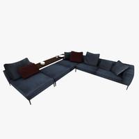 sofa b michel 3d model