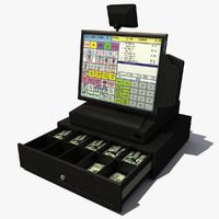 cash register 3d max