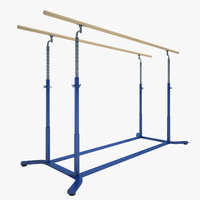 3d model gymnastics parallel bars