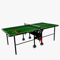 folding table tennis set 3d model