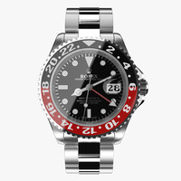 3d rolex gmt-master ii red