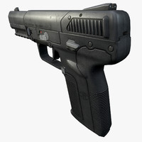 five-seven pistol 3d obj