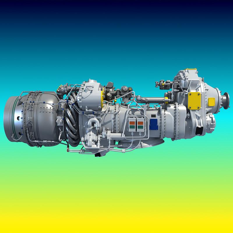 Used Turboprop: Pratt Whitney Canada Pw100 3d Model