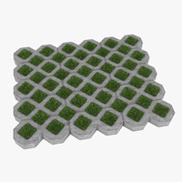 grass pavers 3d model