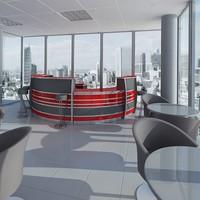 bar interior 3d model