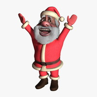 3d santa claus cartoon model