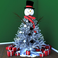 3d max snowman christmas tree