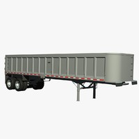 3d model trailer frameless dump tibrooke