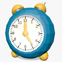 cartoon clock 3d obj