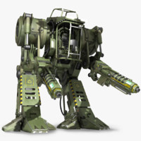 military robot 3d model