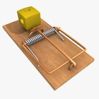 3d mousetrap lure cheese model