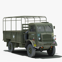 ww2 bedford qld military truck 3d model