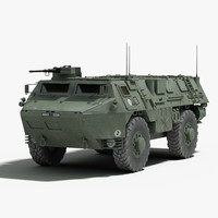 3d model french vab 4x4 apc
