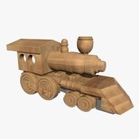 wooden train c4d