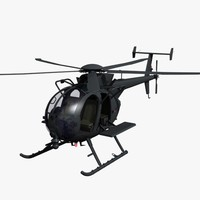 ah-6 little bird 3d model