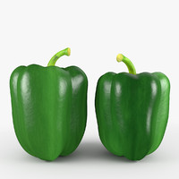 green pepper 3d max