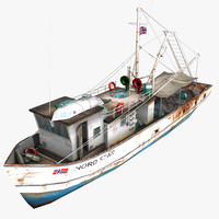 3d ready fishing boat model