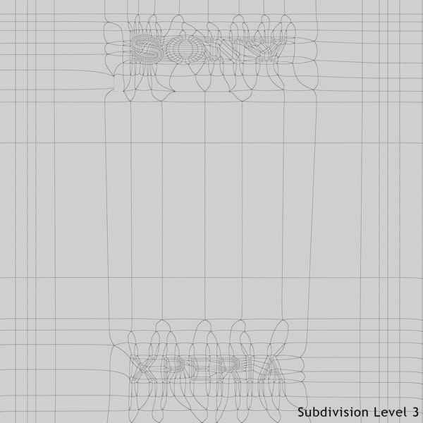 3ds max realistic sony xperia e1