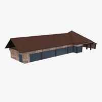 house engla hangar 3d max