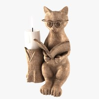 cat candle holder 3d max