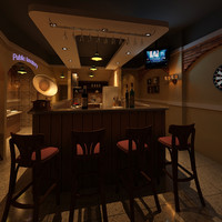 3d model of bar restaurant