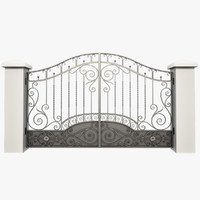3d model wrought iron gate